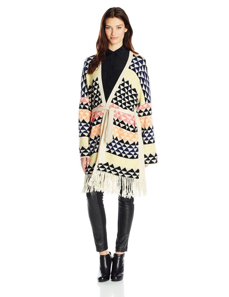 Mara Hoffman Triangle Fringed Poncho Sweater