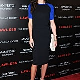 Hilary Rhoda stepped out for the screening of Lawless in NYC.