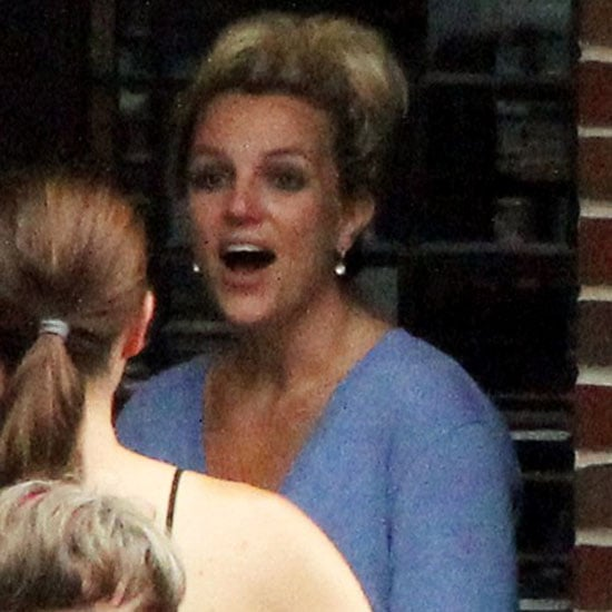 Britney Spears Shooting The X Factor in Providence