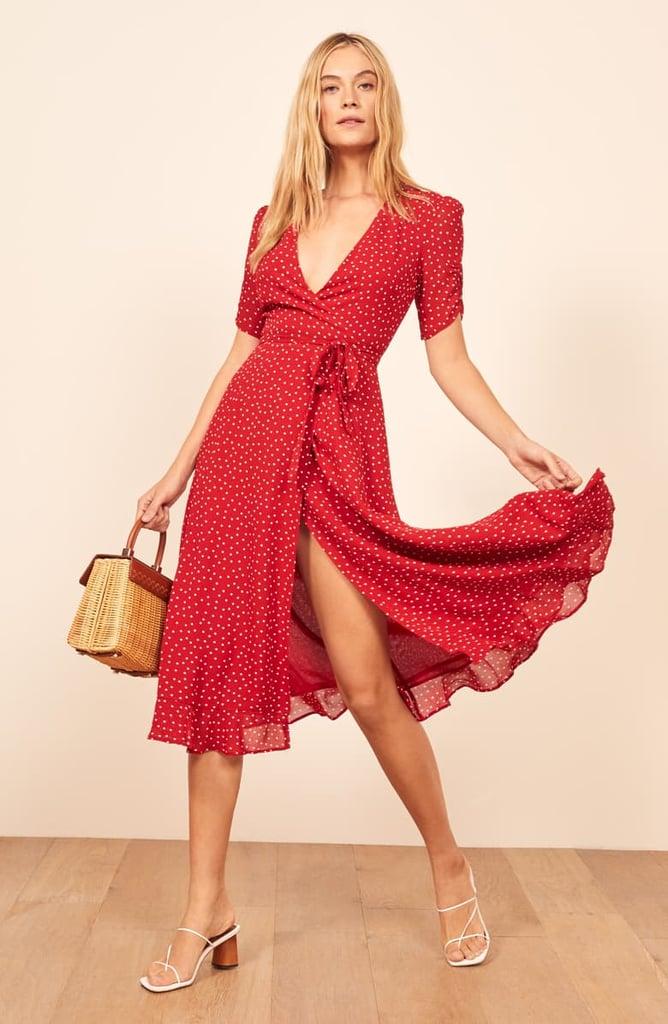 Reformation Napa Wrap Midi Dress