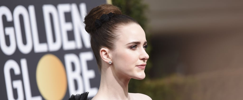 Rachel Brosnahan's Hair and Makeup 2018 Golden Globes