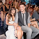 Cute couple Lea Michele and Cory Monteith (both star in Glee) kept close at the Do Something Awards in California on August 20.