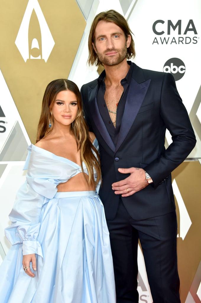 Maren Morris and Ryan Hurd at the 2019 CMA Awards