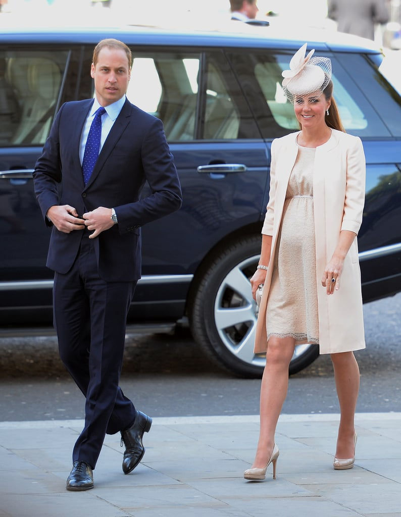 Kate Middleton and Prince William arrived at the service.