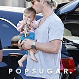 We loved when Chris Hemsworth showed his daughter, India, love with a cute kiss.