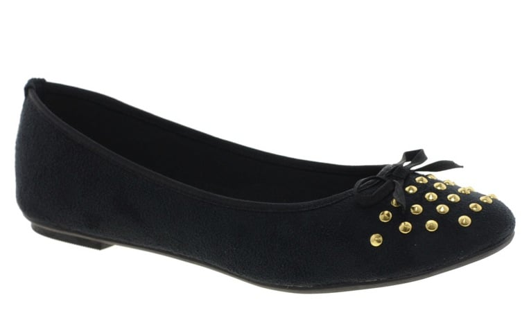 Emily's studded flats injected a much-needed edge, while still remaining simple, sleek, and feminine. To match her footwear flair, we've decided on these ASOS studded ballet flats ($32).