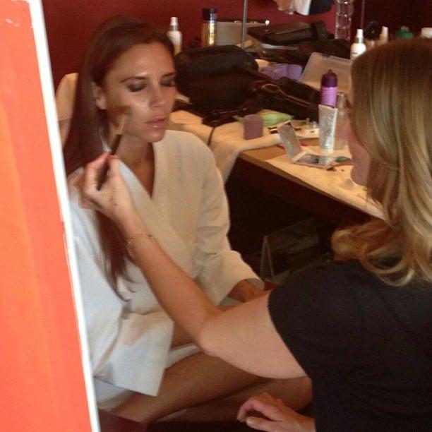 Victoria Beckham got her makeup done with the help of Stila Cosmetics.  Source: Instagram user victoriabeckham