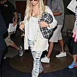 Ashley Tisdale rocked these Gypsy05 tie-dyed pants ($187) while leaving town.