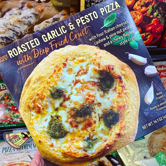Trader Joe's New Garlic Pesto Pizza With a Deep-Fried Crust