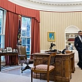 The Oval Office phone is not cordless. Repeat: not cordless.