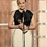 Kate Winslet won a Golden Globe for Mildred Pierce.
