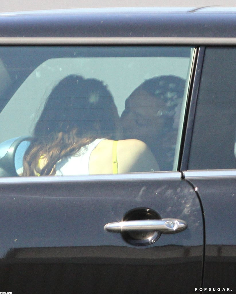 Kristen Stewart made out with Rupert Sanders in her car.