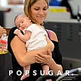 Danneel Harris held onto baby Justice Jay Ackles at LAX.