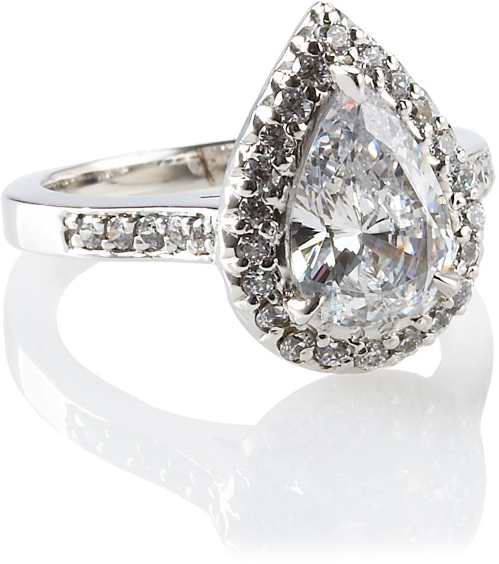 Fantasia Antique Pear Shaped Ring