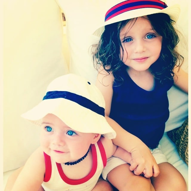 Skyler and Kaius Berman were decked out in red, white, and blue for the Fourth of July. Source: Instagram user rachelzoe