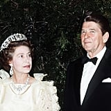 Queen Elizabeth II with US President Ronald Reagan in 1983.