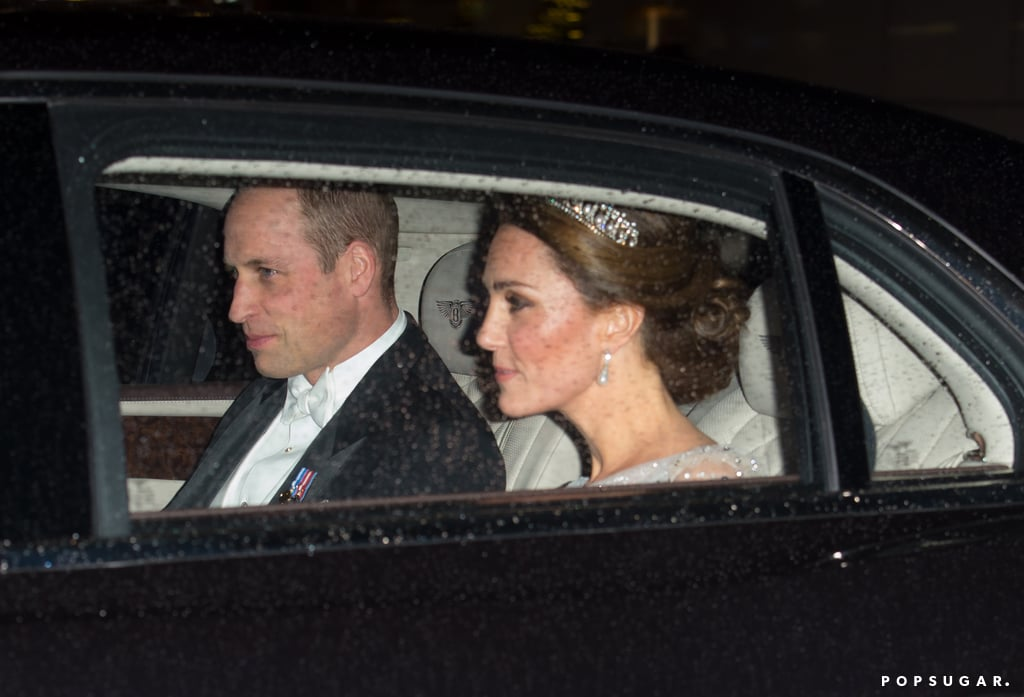 Prince William and Kate Middleton are clearly feeling the holiday spirit! After hosting a Christmas party for military families at Kensington Palace on Tuesday, the Duke and Duchess of Cambridge attended Queen Elizabeth II's annual Diplomatic reception. Kate, of course, made a dazzling appearance in a sparkly gown and the Lover's Knot tiara, while William suited up in a black tux for the white-tie event.  Will and Kate have been regulars at the reception since 2013. The fete is one of the queen's biggest parties and consists of the monarch meeting with representatives and staff from different countries. Missing from the fun, though, were Prince Harry and Meghan Markle, who were busy attending their first Christmas carol service together. Luckily, they'll all be reuniting for Christmas later this month.       Related:                                                                                                           Be Honest, Who Was Your Favourite Royal Family Member This Year?