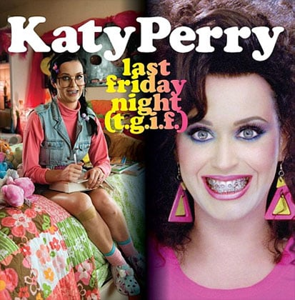 """Picture of Katy Perry's Cover Art and '80s Look For """"Last Friday Night (T.G.I.F.)"""