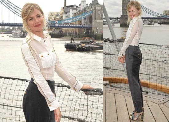Photos of Sienna Miller at GI Joe Photo Call in Loewe Spring