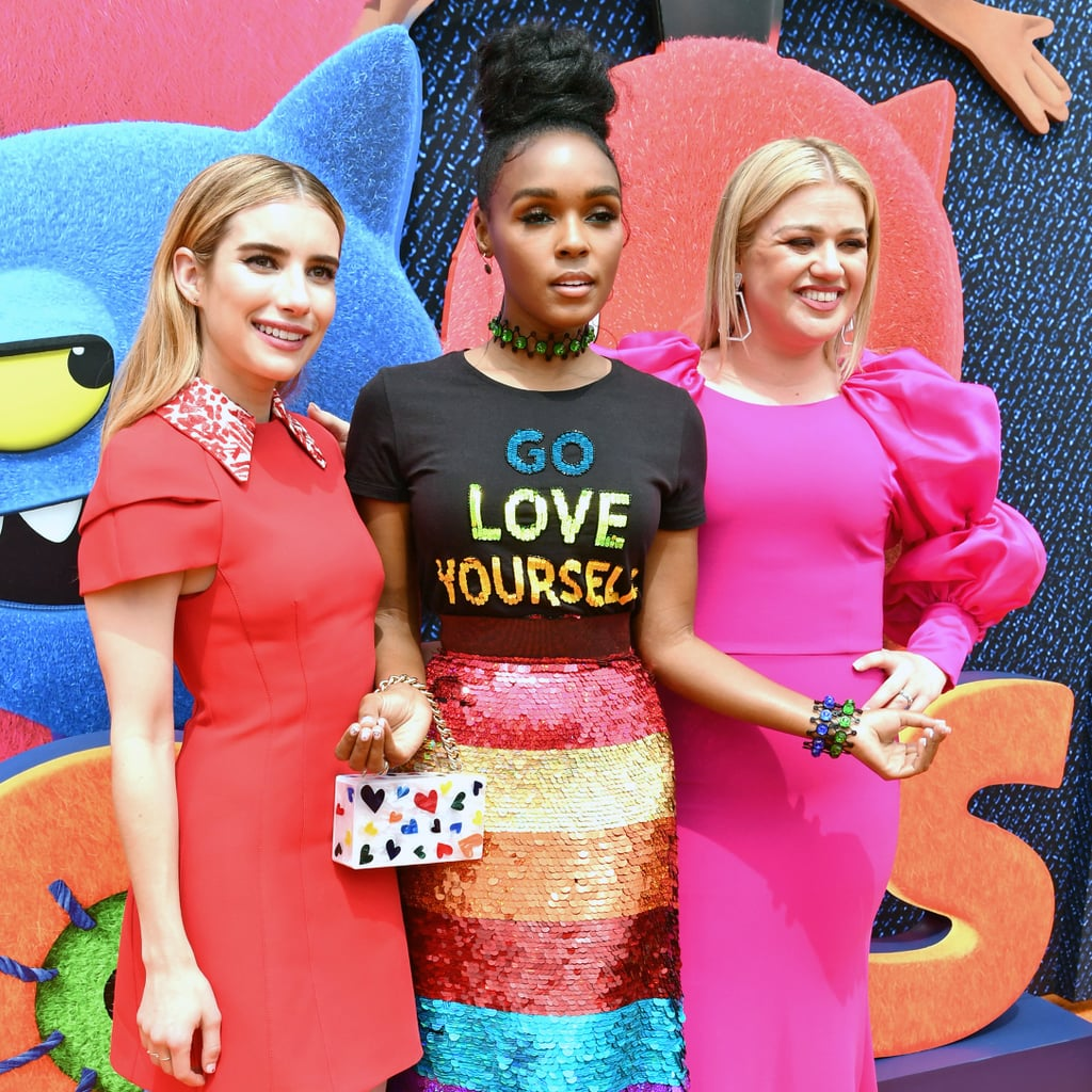 Pictured: Emma Roberts, Janelle Monáe, and Kelly Clarkson