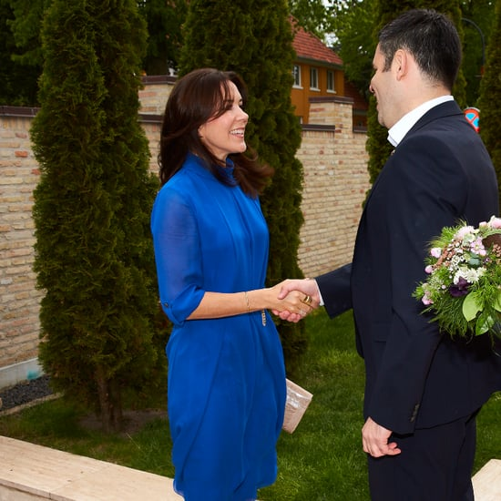 Princess Mary Wearing a Blue Dress May 2016