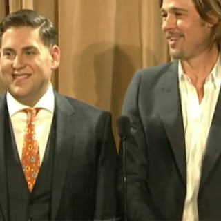Brad Pitt and Jonah Hill at 2012 Oscar Luncheon (Video)