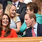 What did Will say? Kate let out a laugh at Wimbledon in July 2015.