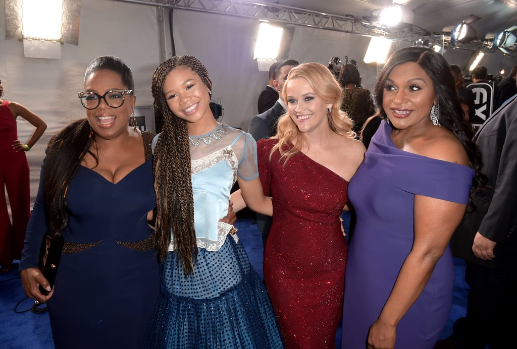 "The stars of A Wrinkle in Time stepped out in style with their kids for the film's LA premiere in Hollywood on Monday night. Reese Witherspoon brought her 18-year-old daughter, Ava Phillippe, as her date for the night, and her Big Little Lies costar Laura Dern did the same with daughter Jaya Harper.  While Mindy Kaling left her newborn daughter, Katherine, at home, she had the support of her longtime friend (and former flame) B.J. Novak. Grey's Anatomy star Ellen Pompeo also brought her 8-year-old daughter, Stella, who was all smiles on the red carpet, as was Eva Longoria, who cradled her growing baby bump. Of course, Oprah Winfrey — who recently said that her character, Mrs. Which, could be ""a distant relative of Beyoncé"" — was the belle of the ball, mingling inside with Yara Shahidi, Salma Hayek (who brought daughter Valentina), and director Ava DuVernay. We also saw stunning appearances from Storm Reid, Tessa Thompson, Janelle Monaé, and Tracee Ellis Ross, who stole the show with her awesome shoes. Keep reading for all the fun snaps from the night, then be sure to check out the fantastical film when it hits theaters on March 9.      Related:                                                                                                           The Ladies of A Wrinkle in Time Are Just as Dazzling as Their Onscreen Counterparts"