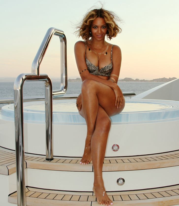 she posed near her onboard hot tub in this sexy shot from september