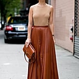Miroslava Duma was a vision in neutrals.