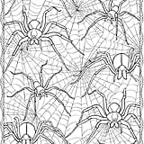 Get the coloring page: spiders