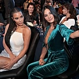 Kim Kardashian and Olivia Munn