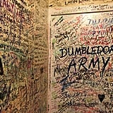 Fans have completely covered every surface of The Elephant House bathrooms with messages about how Harry Potter has affected their lives and other symbols and quotes related to the series. Employees used to clean them off, but they have since given up. They do, however, have to replace the toilet seats often as they break from people trying to reach bare spots in the ceiling and walls.