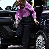 Kate Middleton Gucci Shirt and Jigsaw Pants March 2019