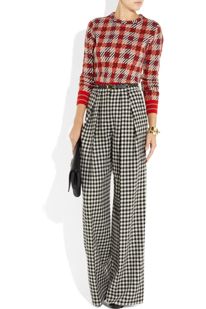 No time like the present to try your hand at the classic checked print, especially in Chloé's wide-leg rendition. Make sure to add height so your pant-leg silhouette doesn't drag. Chloé Wide-Leg Checked Wool-Blend Pants ($1,075)
