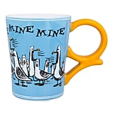 If the lovable birds above the sea were your favorite part of Finding Nemo, this Finding Nemo Seagulls Mug ($17) is definitely for you.