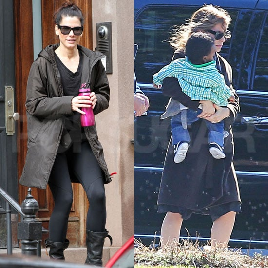 Pictures of Sandra Bullock Leaving Her Apartment in NYC