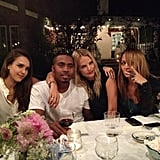 Joel Madden captured a snap of wife Nicole Richie, Jessica Alba, Kelly Sawyer, and Nas. Source: Instagram user joelmadden