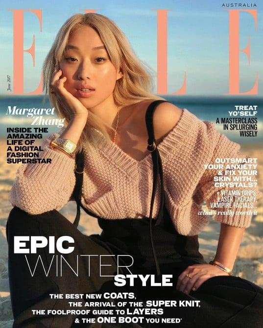 Margaret Zhang Elle Australia Cover June 2017