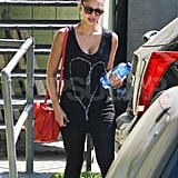 Jessica Alba leaves a LA gym.