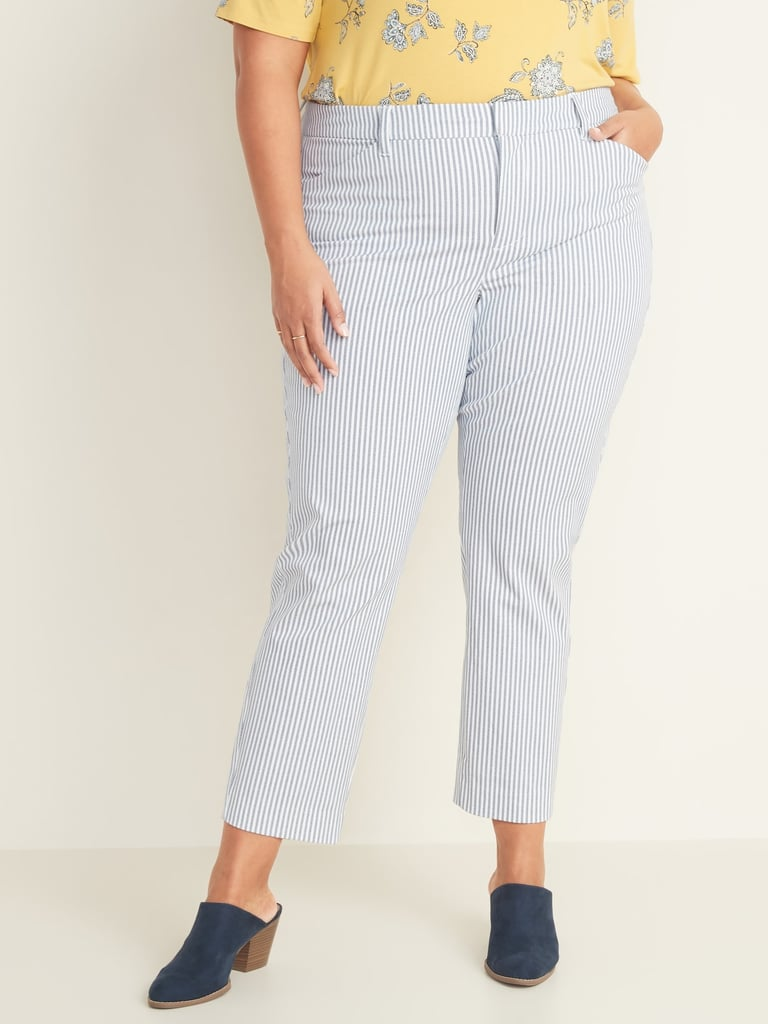 Old Navy High-Waisted Secret-Slim Pockets Plus-Size Pixie Ankle Pants
