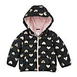 OshKosh B'gosh Foil Heart Hooded Heavyweight Jacket
