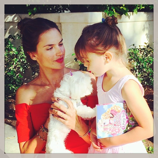Alessandra Ambrosio spent quality time with her daughter, Anja Mazur, and their little dog. Source: Instagram user alessandraambrosio