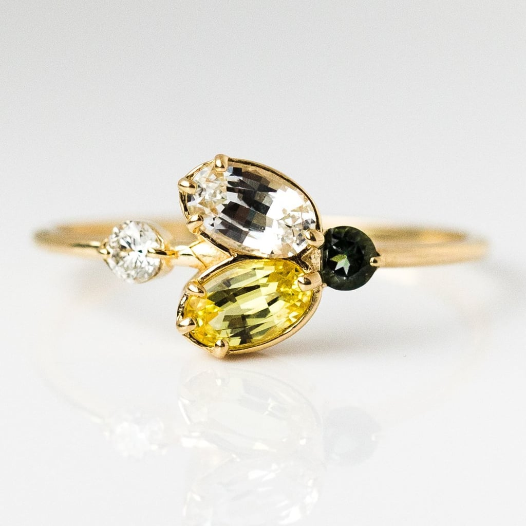 Juniper Ring With Yellow Sapphire in Yellow Gold
