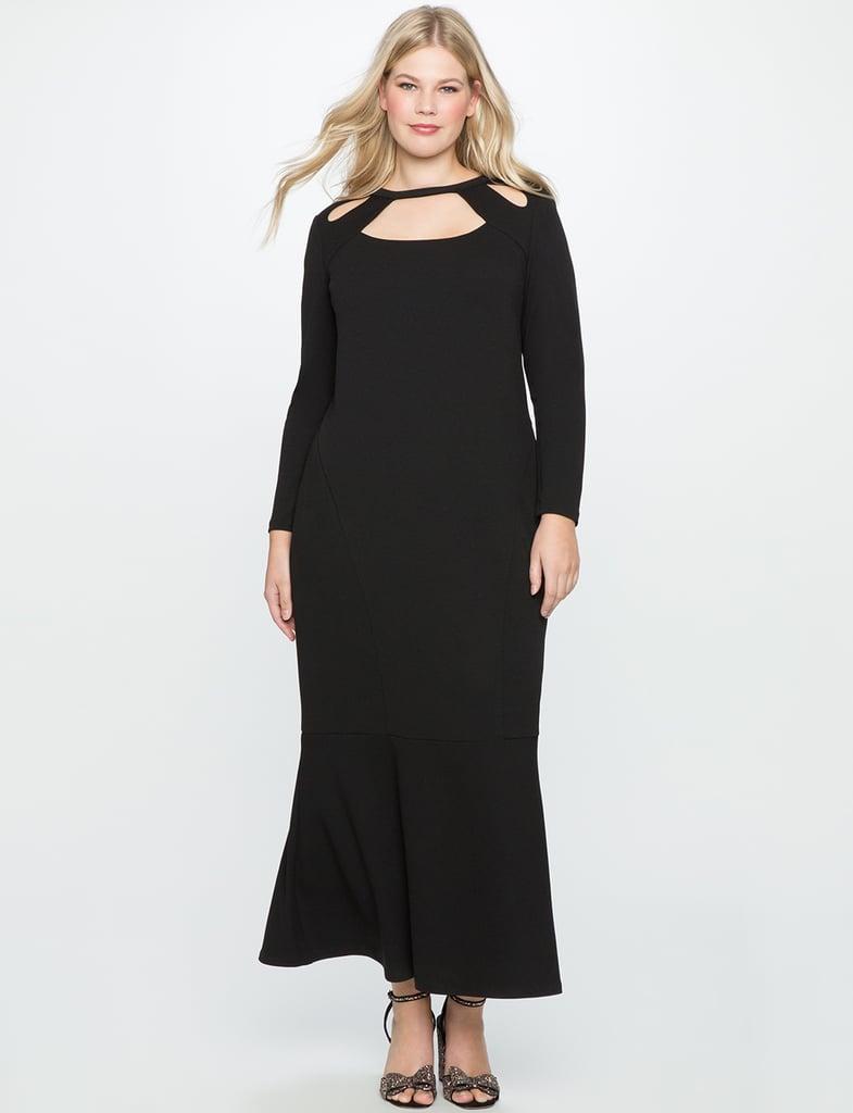 Eloquii Cutout Neckline Gown