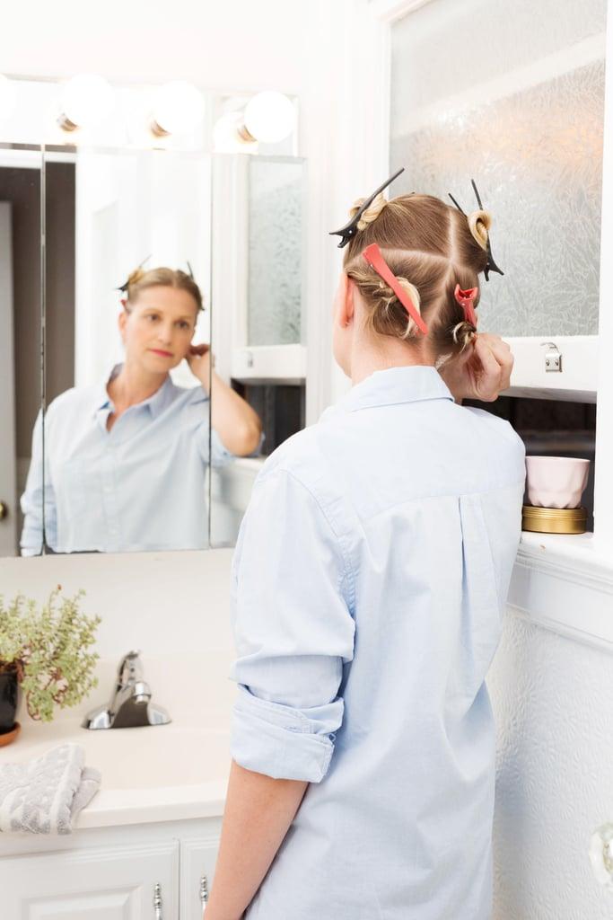 Separate hair into quadrants