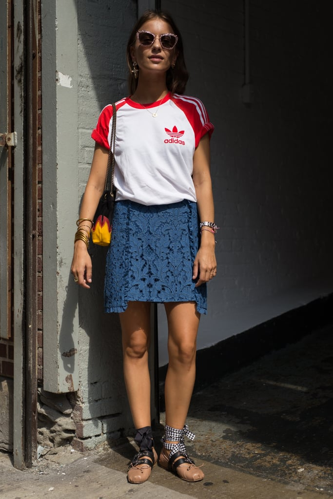 Graphic Tees Street Style Trend at Fashion Week Spring 2017