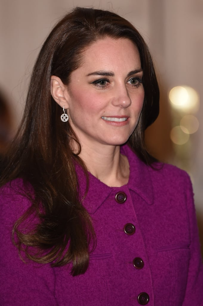 Kate Accessorized With White Gold and Diamond Drop Earrings
