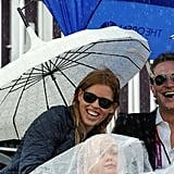 Princess Beatrice and her boyfriend, Dave Clark, watched an equestrian event on day seven.