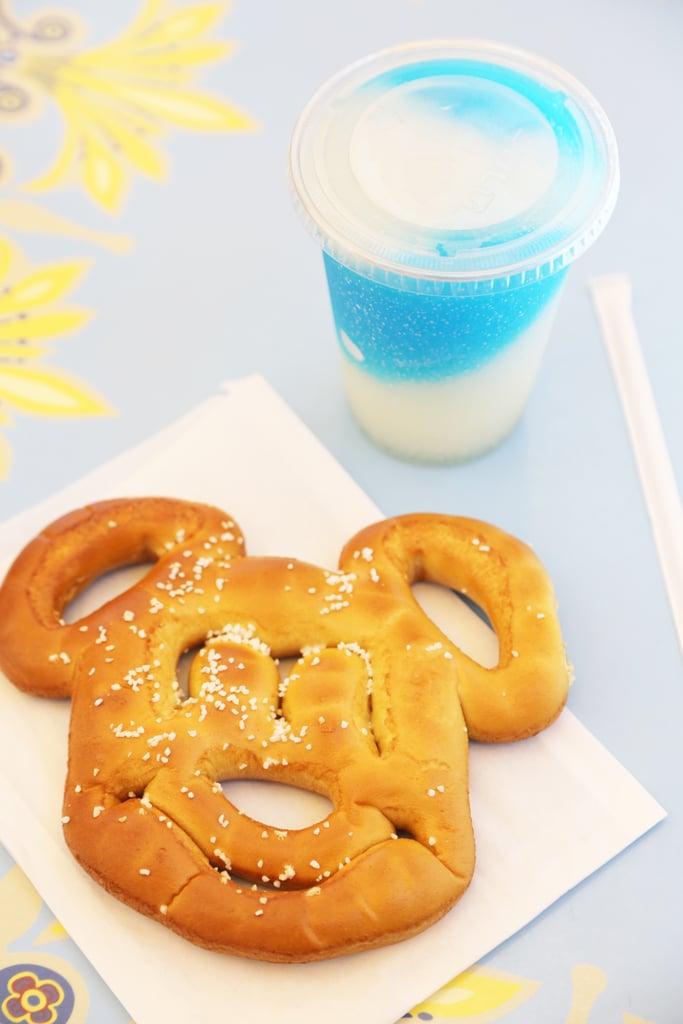 Frozen Lemonade and Mickey Pretzel